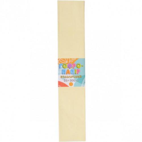 Гофрированная бумага 50*200см, бежевый, 17г/м2 20%