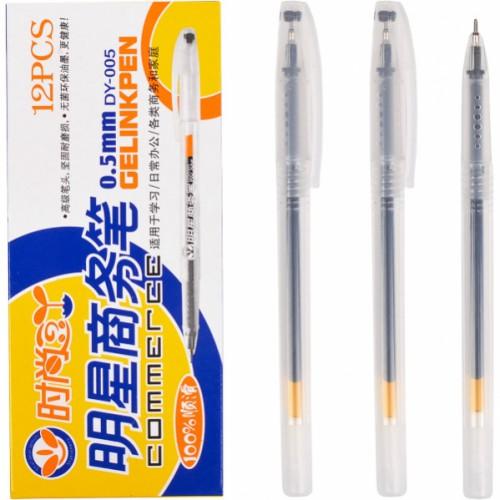 "Ручка гелевая ""Commerce"" 0,5мм, черная"