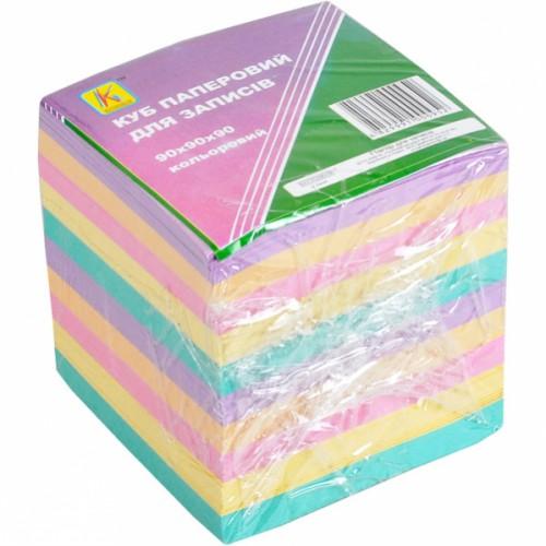 """Блок для заметок 9*9см 900л цветной """"Коленкор"""""""