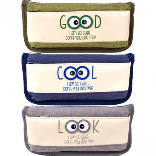 """Пенал-косметичка """"Cool/Good"""", 2 отд.на молнии, 21*8,5*5,5см"""