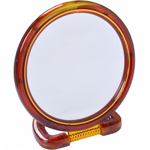 Зеркало настольное 2хсторон. на пластиковой подставке, большое ⌀18см