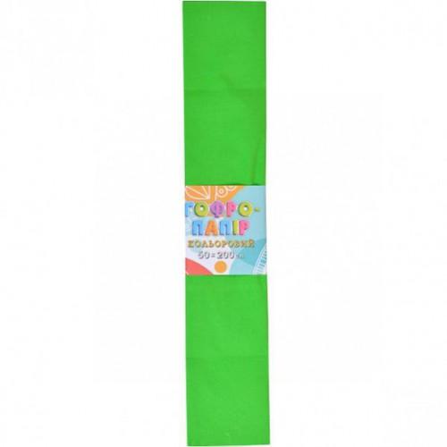 Гофрированная бумага 50*200см, зеленый, 17г/м2 20%