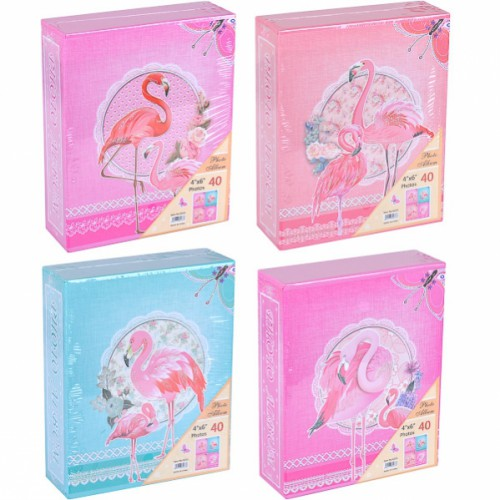 "Фотоальбом А6 ""Фламинго"" 10*15см, 40 фото в картонном футляре"