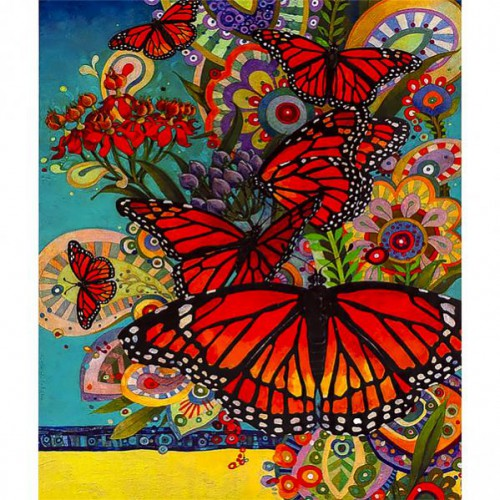 """Картина по номерам """"Бабочки"""" 40*50см"""