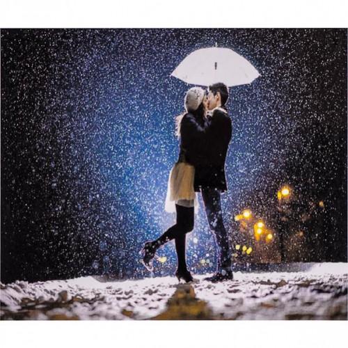 """Алмазная живопись 30*40см """"Поцелуй под зонтом"""" 9+"""