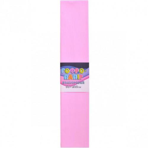 Гофрированная бумага 50*200см, светло-розовый, 17г/м2 75%