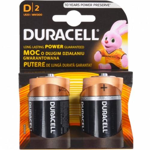 Батарейка Duracell LR-20 АА по 2 шт на блистере, 1,5V