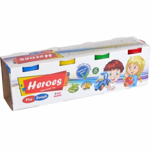 Игровое тесто 4*150гр «Heroes»