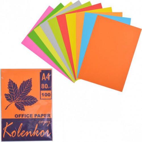 Бумага для ксерокса А4 5+5цв, НЕОН+НАСЫЩЕННАЯ 100л, 80г/м2