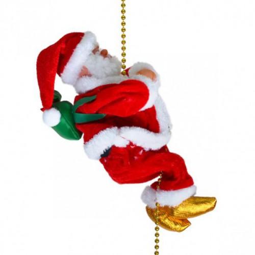 Дед Мороз карабкающийся по цепочке 23см