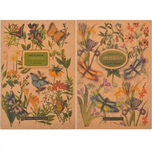 Книжка записная KRAFT В6, 36л, клетка, цвет бумаги-кремовый
