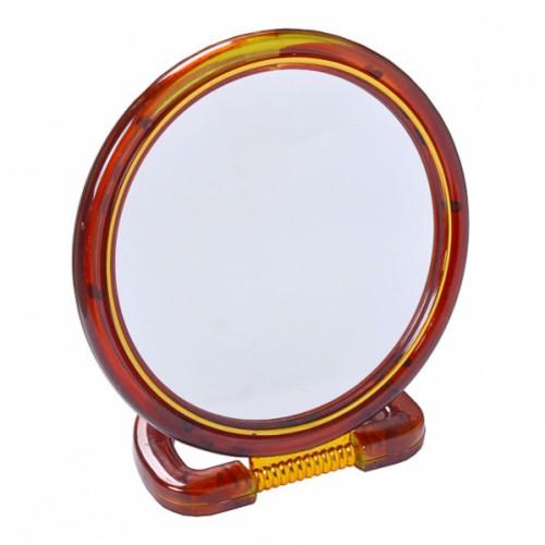 Зеркало настольное 2хсторон. на пластиковой подставке, среднее ⌀15см