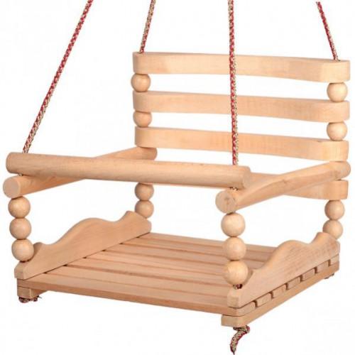 Качеля подвесная деревянная (бук)