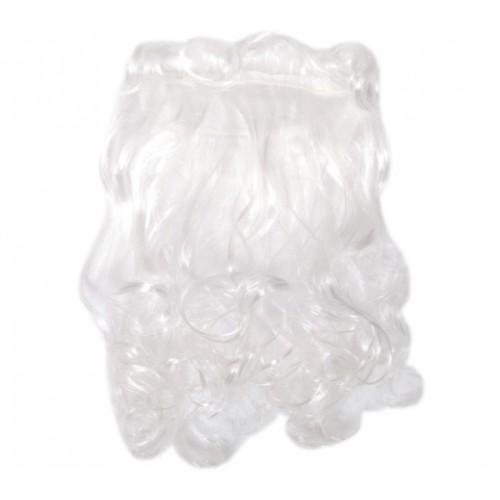 Борода Деда Мороза 30*16см, белая, на резинке