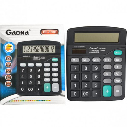 Калькулятор настольный  18.5*15*4.5см (12 функций/ 2 источника энергии)