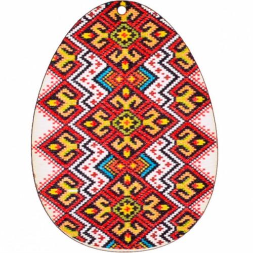 Сувенир Крашенка - подвеска «Вышиванка красная» 7см