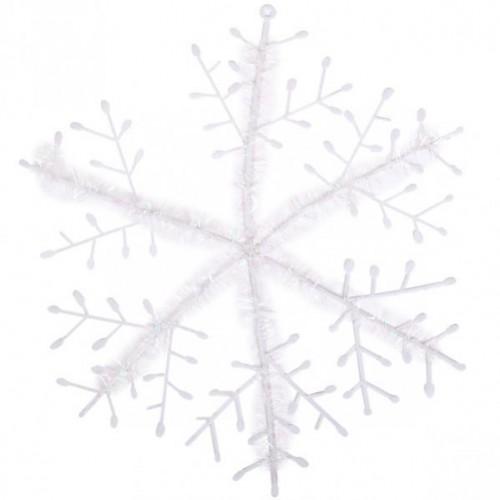 Снежинка белая 23см