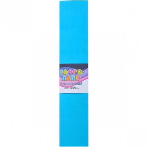 Гофрированная бумага 50*200см, голубой, 17г/м2 75%