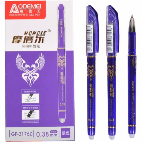 """Ручка гелевая """"пишет-стирает"""" 0,38мм, фиолет"""