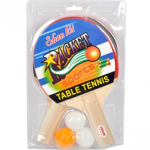 Набор для настольного тенниса «ShenLi» 2 ракетки+3 шарика