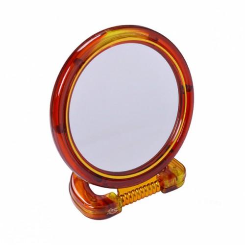 Зеркало настольное 2хсторон. на пластиковой подставке, малое ⌀11см