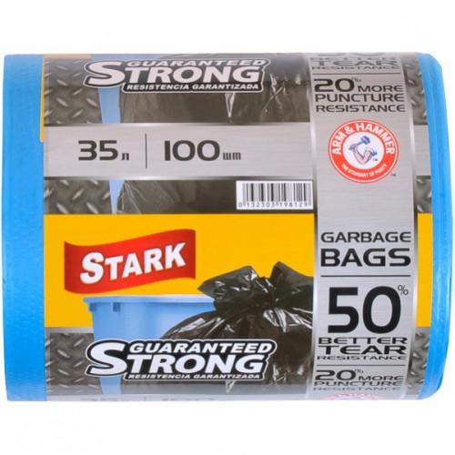 Пакет для мусора сверхпрочный 48*58 35л, 100шт STARK