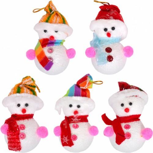 Снеговик 11*6см, (1шт) пенопласт