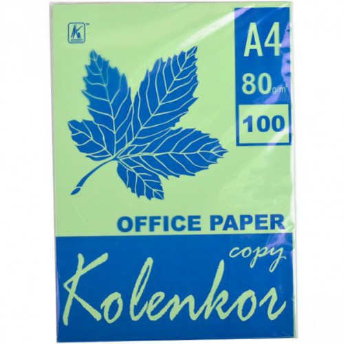 Бумага для ксерокса А4 100л, 80 г/м2 Пастель зеленый