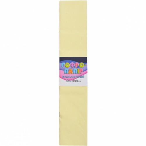 Гофрированная бумага 50*200см, бежевый, 17г/м2 75%