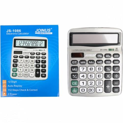 Настольный калькулятор 19*15,5*3,5см (12 функций, 2 источника энергии)