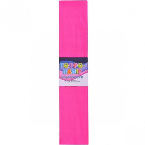 Гофрированная бумага 50*200см, розовый, 17г/м2 75%