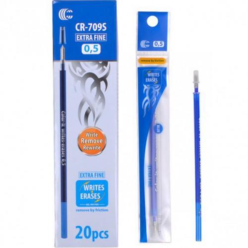 """Стержень гелевый для ручки CR-707F  """"пишет-стирает"""", 0,5мм, синий"""