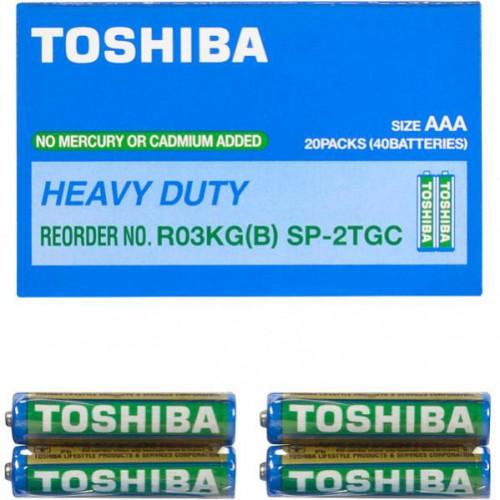 R03G  Батарейки Toshiba ААА, не содержат ртути и кадмия