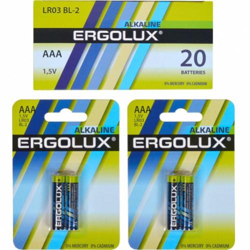 Батарейка Ergolux AAA LR03 BL-2 Alkaline