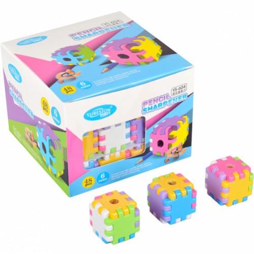 Точилка в виде кубика 3,5*3,5*3,5см YUBESION