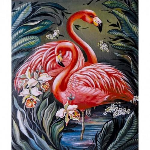 """Картина по номерам """"Фламинго"""" 40*50см"""