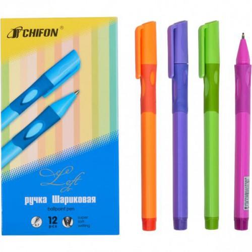 Ручка-тренажер-правша шариковая на масляной основе, 0,7мм, синяя CHIFON