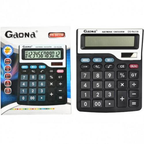 Калькулятор настольный  19,5*15,5*4см (12 функций/ 2 источника энергии)