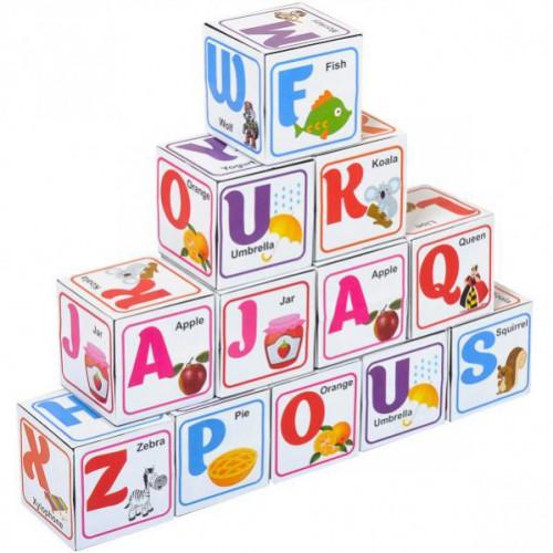"""Кубики """"Азбука"""" 4*4см 12шт. (англ)"""