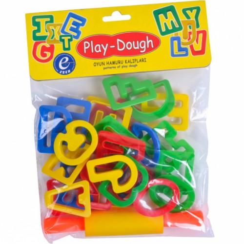Набор инструментов для лепки «Play-Dough» 26шт букв англ.+скалка