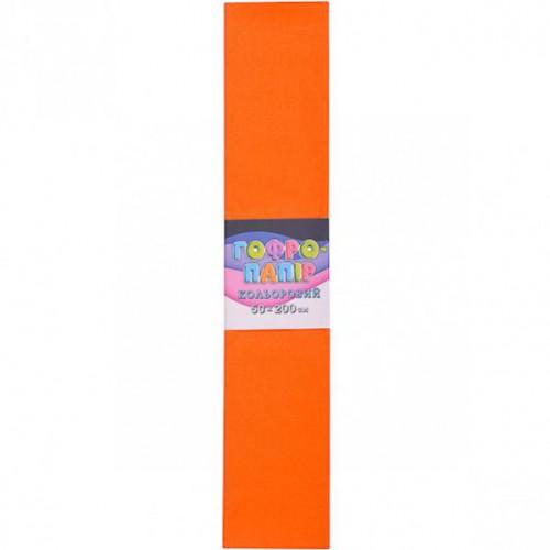 Гофрированная бумага 50*200см, оранжевый, 17г/м2 75%