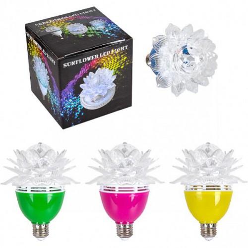 "Лампа LED вращающаяся ""Цветок"" цветной"
