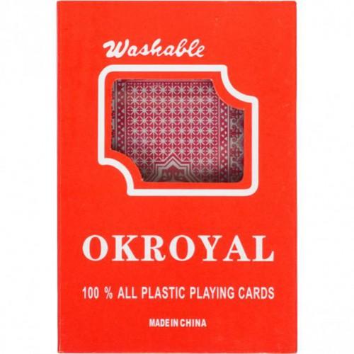 """Карты игральные, пластиковые """"OKROYAL"""" 54 карты"""