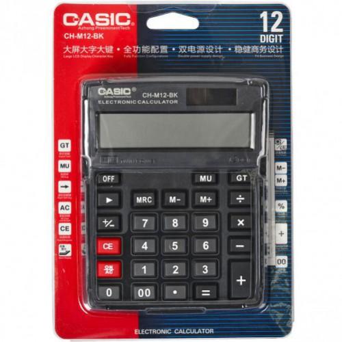Калькулятор настольный  15*12*3см (12 функций/ 2 источника энергии)