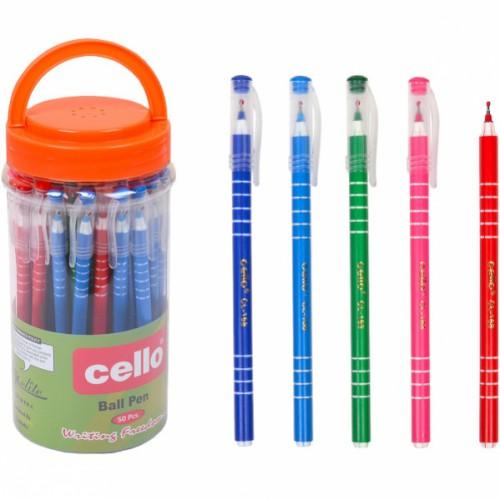 Ручка шариковая на масляной основе, 0,7мм, цветной корпус, синяя