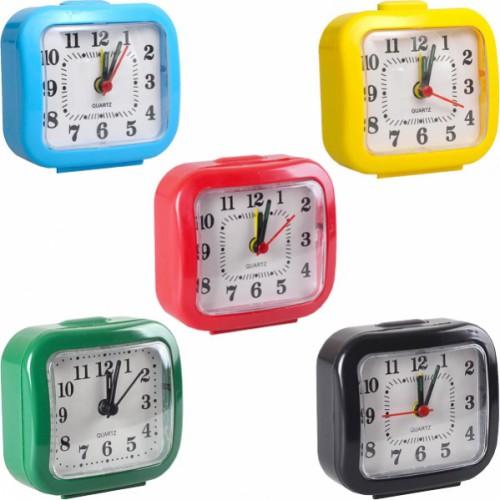 Настольные часы 7*7*3см с будильником