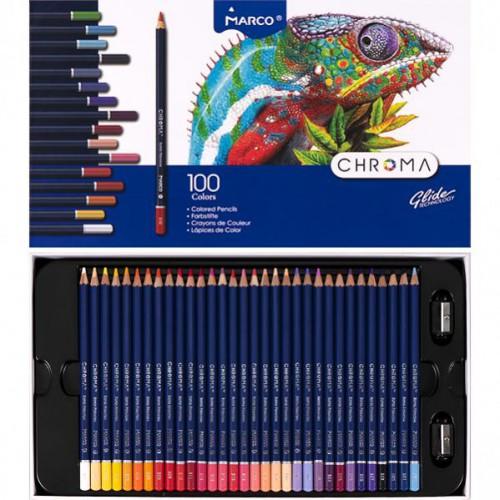 Набор цветных карандашей 100цв серия Chroma MARCO