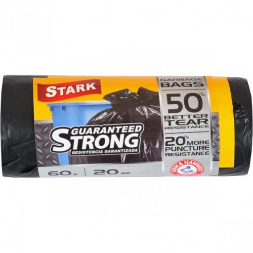 Пакет для мусора сверхпрочный 60*80 60л, 20шт STARK