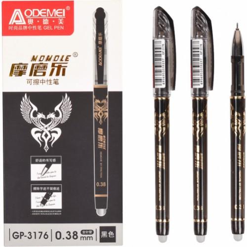 """Ручка гелевая """"пишет-стирает"""" 0,38мм, черная"""
