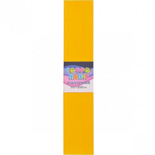 Гофрированная бумага 50*200см, темно-желтый, 17г/м2 75%